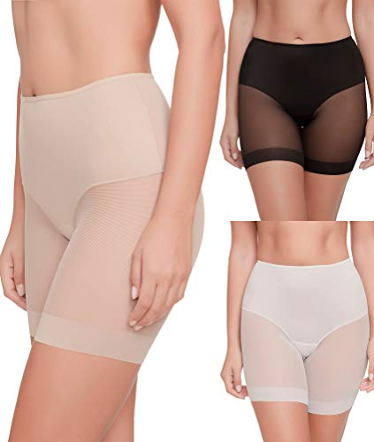 Pack de 3 Braga Pantalón Anti-Rozadura Invisible Sin Costuras y Ligera Tejido Suave (Surtido, L)