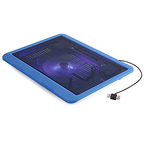 minifinker Cooler Pad, Notebook Cooling Pad Super Quiet para Juegos de Play para computadora portátil(Blue)