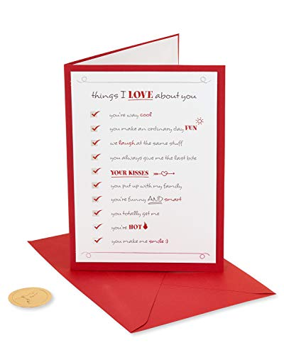 Papyrus Romantic Card (Reasons I Love You) 4220775 Multicolored