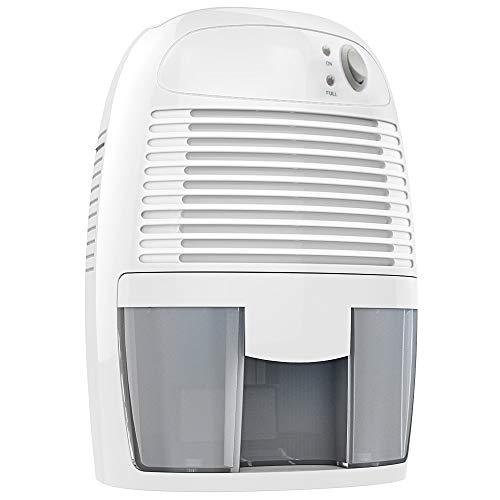 Deshumidificador de 500 ml, mini deshumidificador contra la humedad, la suciedad y el moho en espacios pequeños de la casa, trastero, armario o caravana.