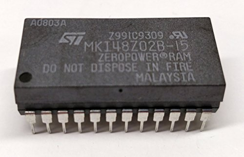 1 stuk MKI48Z02B15 | 2K X 8 Zeropower RAM | 150ns | Vcc 4.5 tot 5.5V | = MK48Z02 | = DS1220AB | STMicroelectronics | PHDIP24 behuizing
