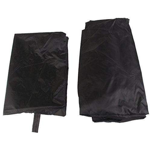 heelinna Outdoor Wasserdicht BBQ Cover Grill Displayschutzfolie (schwarz)