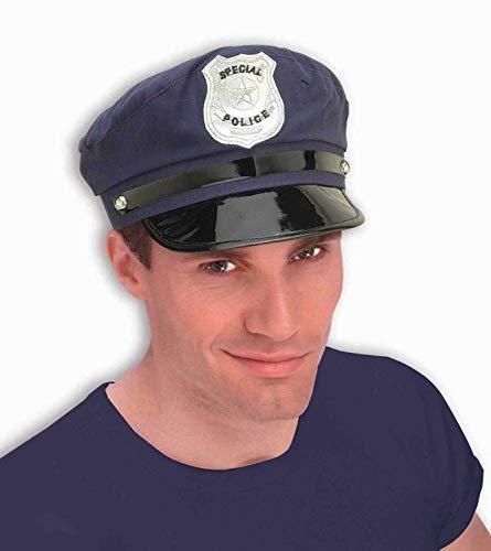 Forum Novelties 52735gamuza de policía Gorro, azul