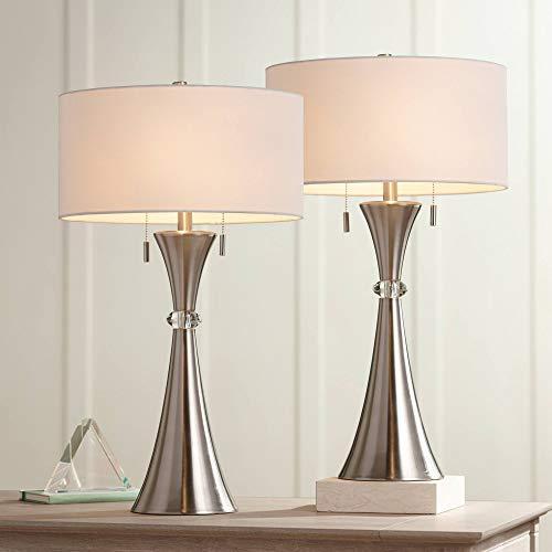Rachel Modern Art Deco Table Lamps Set of 2 Concave...