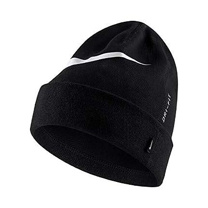 NIKE Team Unisex Beanie Hat, Hombre, Black/White, MISC