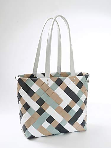 Kobolo Tasche Einkaufstasche Einkaufskorb Kunststoff Shopper Lockardi Belfast XL