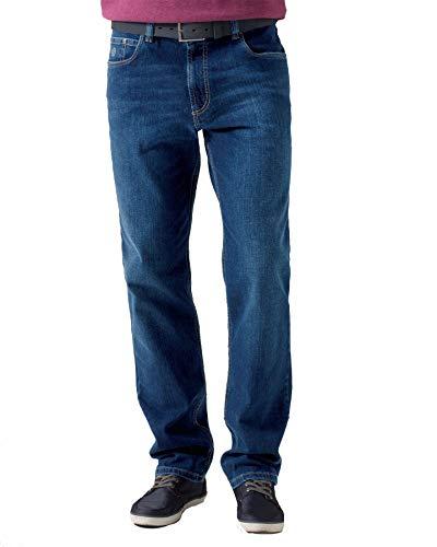 Bugatti Herren Jeans Hose Straight Leg Regular Fit Blau Stoned Washed (Art.-Nr.: 3280D-16640) (W42/30)