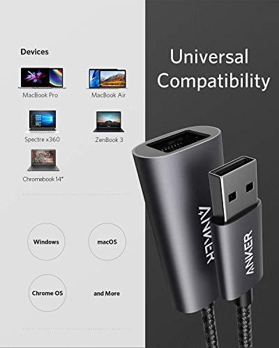 Anker PowerExpand USB 3.0 auf Gigabit Ethernet Adapter, Aluminium, kompakt, USB-A Adapter kompatibel mit MacBook Pro 2015, MacBook Air 2017 und mehr