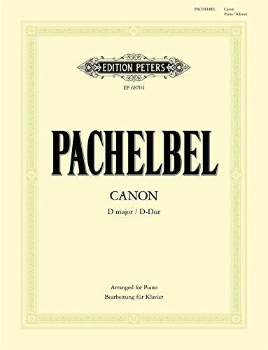 Canon D-Dur (Bearbeitung für Klavier zu 2 Händen): Partitur für Klavier