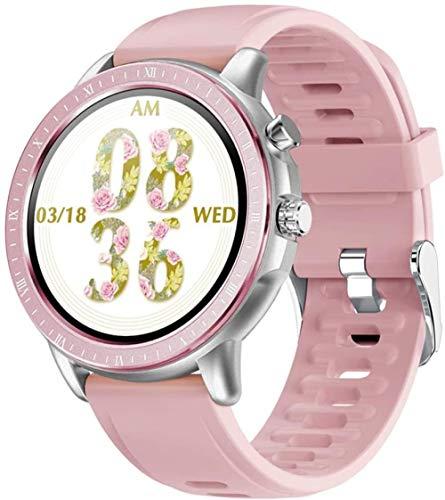 TYUI Reloj inteligente Smartwatch de 1.3 pulgadas con pantalla redonda completa IP67 resistente al agua con monitoreo de frecuencia cardíaca