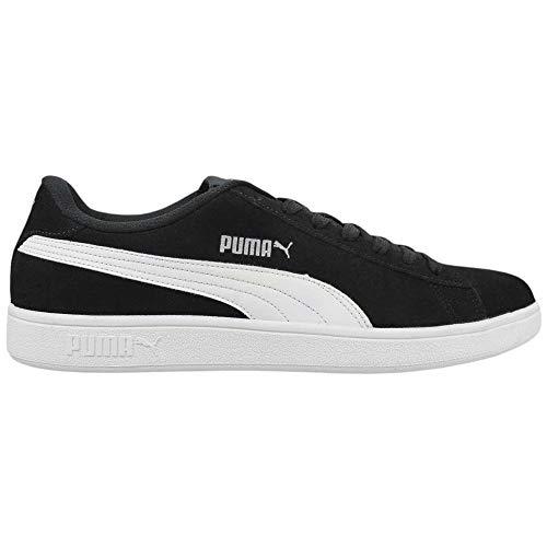 Tênis Puma Smash V2 BDP, Adulto Unissex, Preto/ Branco/ Prata, 40