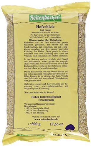 Seitenbacher Haferkleie, 6er Pack (6 x 500 g Packung)
