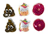 6 Pack Hand Warmers Rechargeable for Cold Winter Days - 2 Pcs Each Unicorn, Donut, and Poop Shaped. Use Over and Over Reusable Hand Warmer Hot Packs for Hands Perfect for Relaxing Both Hands and Feet