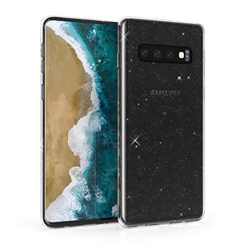 kwmobile Hülle kompatibel mit Samsung Galaxy S10 - Handyhülle - Handy Case Glitzer Uni Transparent