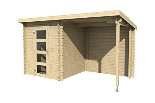 Lasita Maja Jelle Plus - Gartenhaus in Blockbohlenbauweise für Schnelle Montage