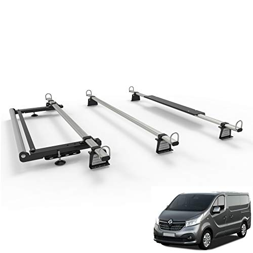 Autorack WorkReady Van-Dachträger für Renault Trafic (ab 2014), 3 Stangen mit Walzen-Set