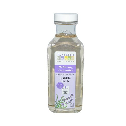 Aura Cacia Aromatherapy Bubble Bath, Relaxing Lavender 13 oz (Pack of 12)