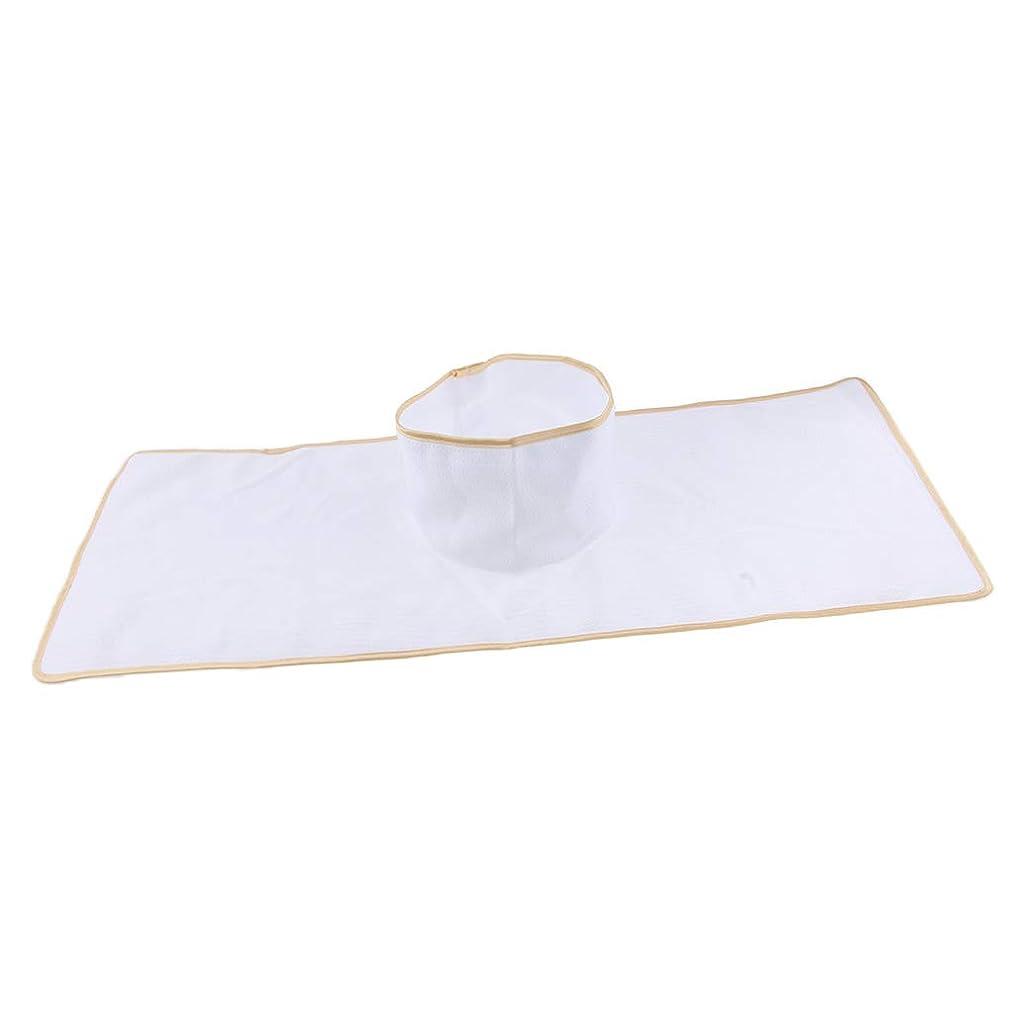 注ぎます三角現象D DOLITY サロン マッサージベッドシート 穴付き 衛生パッド 再使用可能 約90×35cm 全3色 - 白