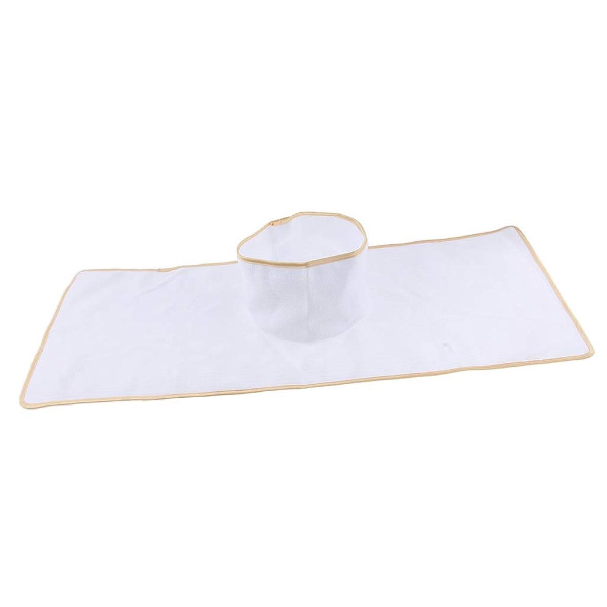 ノイズ商標インタラクションD DOLITY サロン マッサージベッドシート 穴付き 衛生パッド 再使用可能 約90×35cm 全3色 - 白