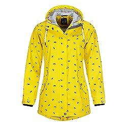 Dry Fashion Damen Regenmantel Wyk Funktionsmantel Parka, Größe:38, Farbe:gelb
