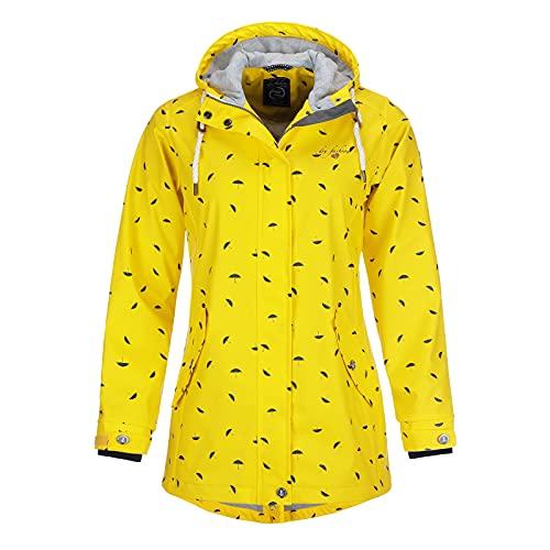 Dry Fashion Damen Regenmantel Wyk Funktionsmantel Parka, Größe:40, Farbe:gelb