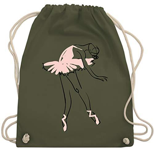 Shirtracer Tanzsport - Balletttänzerin Ballerina - Unisize - Olivgrün - ballett geschenke - WM110 - Turnbeutel und Stoffbeutel aus Baumwolle
