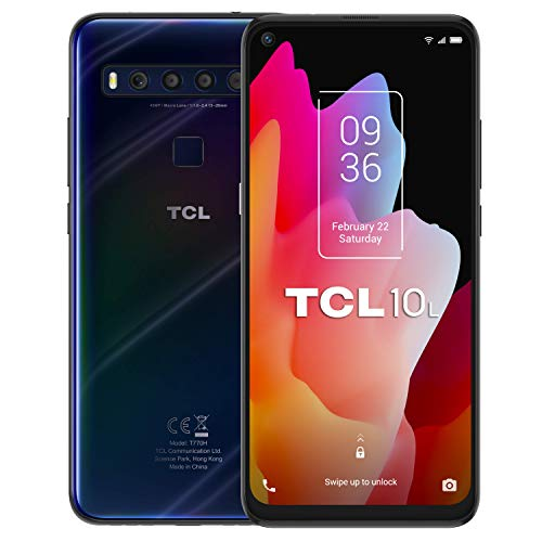 "Oferta de TCL 10L - Smartphone de 6.53"" FHD+ con NXTVISION (Qualcomm 665 4G, 6GB/64GB Ampliable MicroSD, Cámaras de 48MP+8MP+2MP+2MP, Batería 4000mAh, Android 10 actualizable) Color Azul"