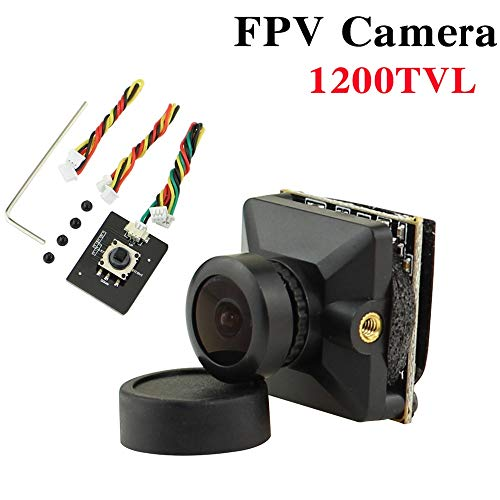ZHITING Cámara Micro FPV 1200TVL Lente de 2.1 mm Personalizado 1/3 '' CMOS NTSC FOV 160 grados con WDR global para Tiny Whoop Racing Drone Like Beta85X