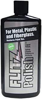 Flitz Multi-Purpose Polish and Cleaner Liquid for Metal, Plastic, Fiberglass, Aluminum, Jewelry, Sterling Silver: Great for Headlight Restoration + Rust Remover, Made in the USA