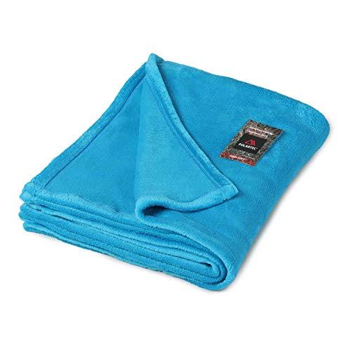毛布 軽量 シングル ポーラテックフリース ハイロフト POLARTEC® High Loftt™ アウトドアや車中泊に ブルー