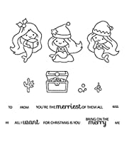 クリスマスの人魚の透明な透明なシリコンスタンプ/DIYスクラップブッキング/フォトアルバムのシール装飾的な透明なスタンプシートB0329