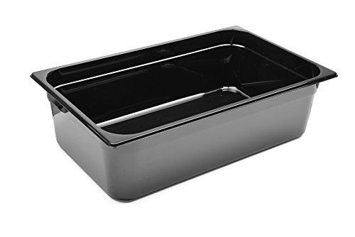 HENDI Gastronormbehälter, Temperaturbeständig von -40° bis 110°C, Skalierung, Geruchs- und geschmackneutral, 21L, Polycarbonat, GN 1/1, 530x325x(H)150mm, Schwarz