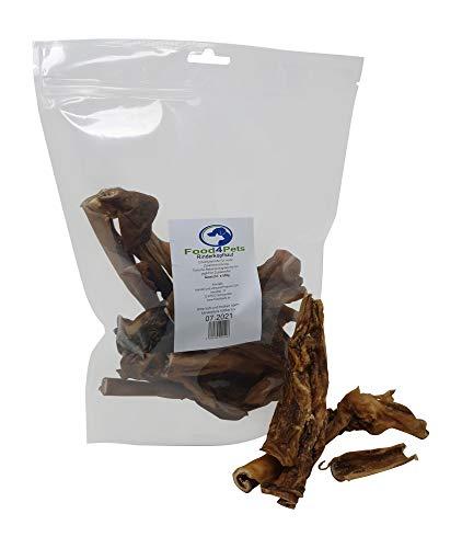 Food4Pets Rinderkopfhaut Hundeleckerli 500g - natürliche Zahnpflege für Ihren Hund
