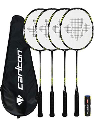 DUNLOP Carlton Badminton Rackets 2 Player 4 Player and Family Options Nanoblade Pro x4