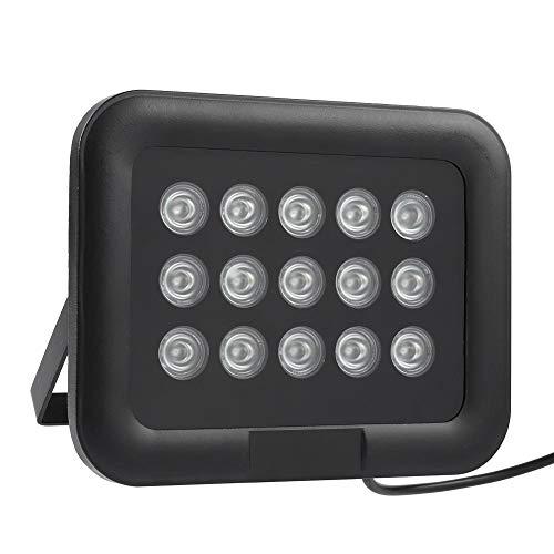 IR-verlichting, infrarood LED-licht DC 12V 15 stuks IR infrarood LED-array-licht IP65 Waterdicht nachtzicht voor binnen, buiten, beveiliging CCTV-camera 90 ° groothoek