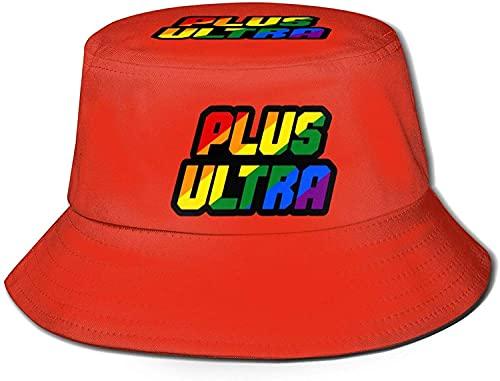 HESMENO My Hero Academia Logo Bucket Hat Unisex Sombrero de protección gráfica Boonie sombrero al aire libre