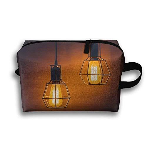 Licht Nacht Glas Laterne Dunkelheit Lampe tragbare Reise Make-up Tasche, Aufbewahrungstasche tragbare Damen Travel Square Kosmetiktasche