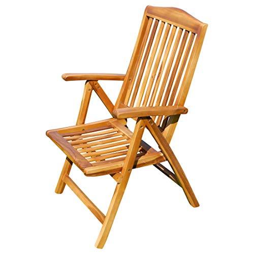 ASS echt Teak Hochlehner Gartensessel Gartenstuhl Sessel Holzsessel Klappsessel Gartenmöbel 7fach verstellbar Holz sehr robust Summer Barcelona