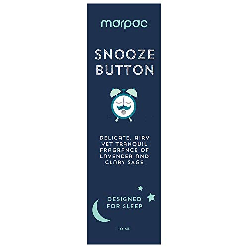 Marpac Yogasleep | Snooze Button (Lavender Vanilla) | Natural Essential Oil Blend for Sleep & Relaxation | Premium Aromatherapy Sleep Scent Diffuser Oil | 10 ml