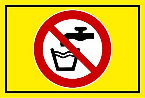 Melis Folienwerkstatt sticker schild - geen drinkwater - S00355-014-C 60x40cm – Aluverbundplatte – mit Bohrlöchern