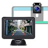 Tonowu バックカメラモニターセット 5インチバックモニター 150度広い視野角 1024*600高解像度 正像・鏡像を切り替え可能 ガイドライン表示 12V/24V対応 ノイズ対策済み 7m延長ケーブル付 2年保証