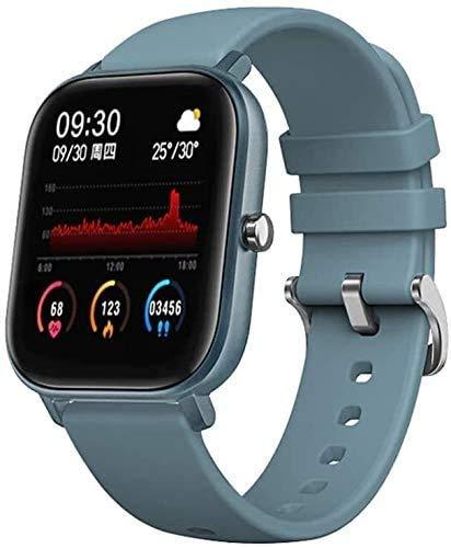 JIAJBG Fitness Tracker P8 Reloj inteligente pulsera impermeable pantalla táctil correa de silicona ritmo cardíaco reloj de fitness multimodo deportivo Smartwatch Sport Fitness Tracker Moda/Azul