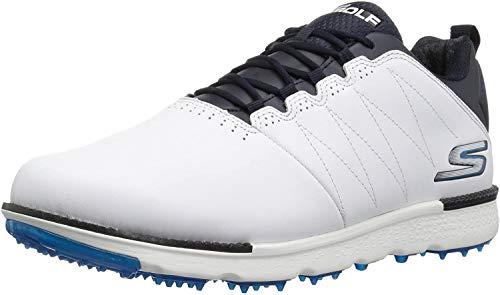 Skechers Men's Go Golf Elite 3 Shoe,white/navy,10.5 W US