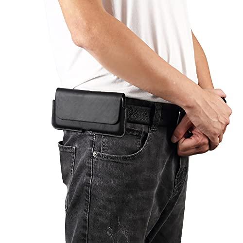 Bolsas de la cubierta del caso Funda de teléfono celular para iPhone 12, 12pro, 11,11 PRO, XS, X, XR, funda para hombre de cuero genuino con caja de bolsa de bucle de cinturón, bolsa de transporte
