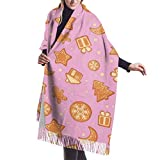Sciarpa, scialle & avvolgere Natale pan di zenzero Womens morbido inverno caldo sciarpa scialli