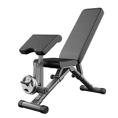 aBaby Banc de Musculation Pliable, Banc de Musculation Multifonctions réglable 7 Positions, Inclinaison/Decline Banc Parfait for l'entraînement Complet du Corps Fitness Materiel
