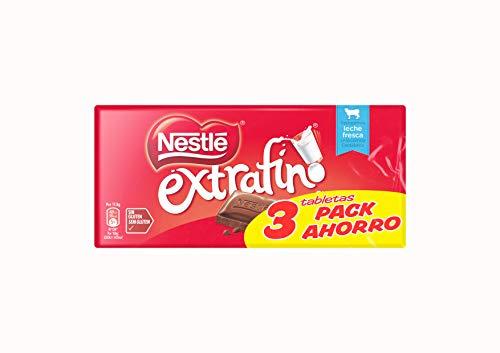 Nestlé - Chocolate con Leche Extrafino - Pack de 3 x 125 g - [Pack de 2]