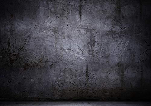 wandmotiv24 Fototapete Wand Steinwand Risse, XL 350 x 245 cm - 7 Teile, Fototapeten, Wandbild, Motivtapeten, Vlies-Tapeten, Schwarz, Steinoptik, Mauer M0788