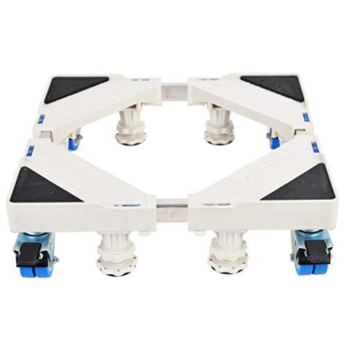 XMZFQ Socle réglable Multifonctionnel Base Mobile pour appareils ménagers sèche-Linge frigos, 8 Pieds + 8 Roues-Freins