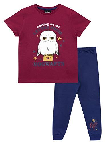 HARRY POTTER Pijamas de Manga Corta para niñas Hedwig Azul 5-6 Años 18